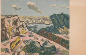 JAPAN , 20-30s ; Art Postcard , Military