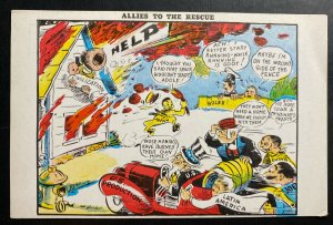 Mint USA Patriotic Picture Postcard PPC Allies To The Rescue