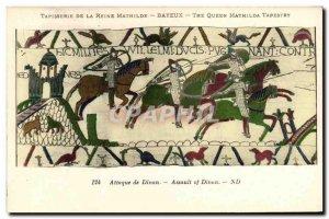 Postcard Old Bayeux Tapestry De La Reine Mathilde Attack Dinan