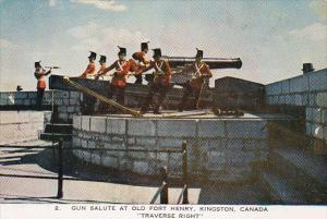 Canada Ontario Kington Gun Salute At Old Fort Henry Traverse Right