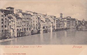 Tergo Di Borgo S. Jacopo Lungo l'Arno, FIRENZE (Tuscany), Italy, 1900-1910s