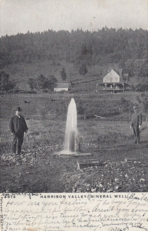 HARRISON VALLEY, Pennsylvania, PU-1906; Mineral Well