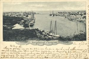 curacao, D.W.I., WILLEMSTAD, Harbour View, Panorama (1905)