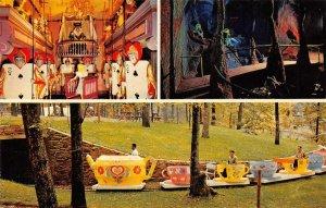 ENCHANTED FOREST Alice In Wonderland Amusement Park Ride Baltimore 1963 Postcard
