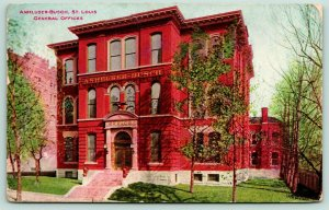 St Louis MO~Anheuser Busch~Italianate General Offices~Brewing Assn 1908 PC