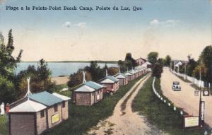 Plage a la Pointe-Point Beach Camp, Pointe du Lac, Quebec , Canada , PU-1937