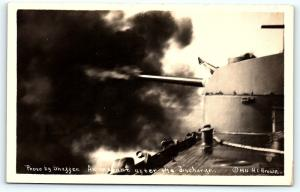 Postcard Military RPPC 1911 Instant After Gun Discharge Photo Shaffer B35