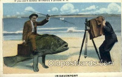 Davenport Exaggeration Old Vintage Antique Postcard Post Card  Davenport