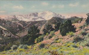 Colorado Pikes Peak Curteich