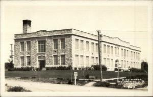 Hot Springs SD High School Real Photo Postcard
