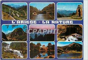 Postcard Modern Ariege Col de Port and Chateau Lake Orgeix Col de Peguere Cha...