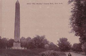 NEW YORK CITY, New York, 1930-1950s; Central Park, The Obelisk