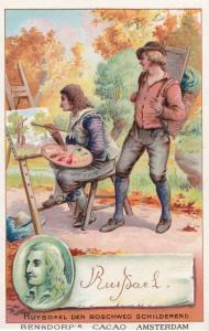 Ruisdael Dutch Painter Printed Signed Bendorps Postcard Antique Trade Card
