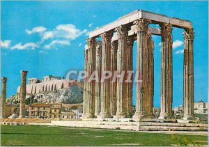 Postcard Modern Athens The Temple of Olympian Zeus