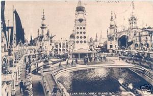 Luna Park Lagoon Coney Island Amusement Park Brooklyn