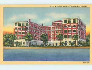 Unused Linen HOSPITAL SCENE Jacksonville Florida FL J9624