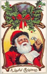 D83/ Santa Claus Merry Christmas Holiday Postcard 1916 Kansas City Spectacles 8