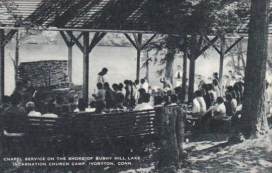 Chapel Service On The Shore Of Bushy Hill Lake Incarnation Church Camp Ivoryt...