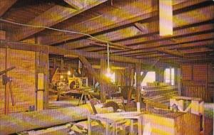 New Jersey Batsto Interior Of Water Powered Saw Mill