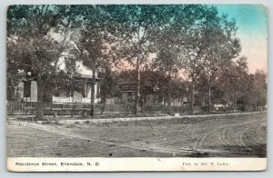 Ellendale ND~Residential Street~Victorian Homes on Dirt Road~Ed N Leiby Pub~1911