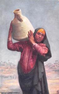 Egypt, Egypte, Africa Woman Water Carrier  Woman Water Carrier