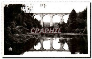 Old Postcard Meymac Pond and Viaduct Farges