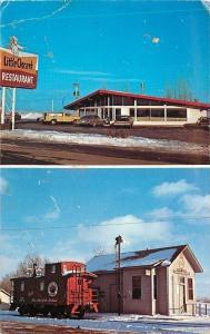 Hampton Minnesota~Little Oscar's Restaurant~c1928 Railroad Train Station 1960s