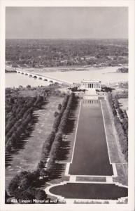 Washington D C Lincoln Memorial and Arlington Memorial Bridge Real Photo