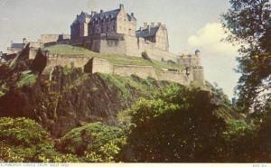 UK - Scotland, Edinburgh - Edinburgh Castle from West End