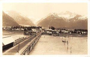 RPPC VALDEZ, AK Alaska Motor Coach Sign 1936 Vintage Real Photo Postcard