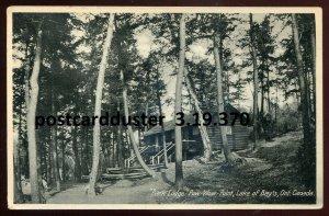 370 - LAKE OF BAYS Ontario 1930s Muskoka. Pow- Wow Point Lodge by Evans