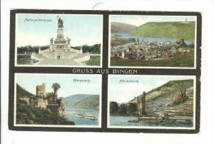 4 Views, Gruss Aus Bingen (Rhineland-Palatinate), Germany, 1900-1910s