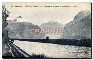 Old Postcard Dauphine Bourg d'Oisans and La Romanche Foot Montet 2344 m