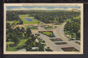 Hermann Park,Sam Houston Monument,Houston,TX Postcard