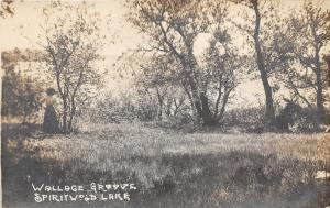 Spiritwood Lake North Dakota~Victorian Lady @ Wallace Groove~c1910 RPPC-Postcard