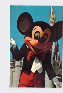 VINTAGE POSTCARD WALT DISNEY WORLD MICKEY IN FRONT OF CINDERELLA'S CASTLE #3