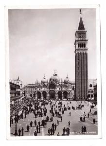 RPPC Venice Piazza San Marco 1938 Real Photo Postcard