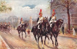 BR101418 painting postcard london whitehalll royal guard military militaria  uk