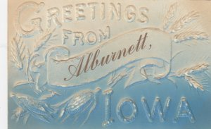 ALBURNETT , Iowa , 1911 ; Corn Greetings