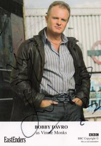 Bobby Davro Vinnie Monks BBC Eastenders Hand Signed Cast Card Photo