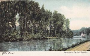 Gota Canal , Sweden , Borensberg. Parti af Kanalen , 00-10s