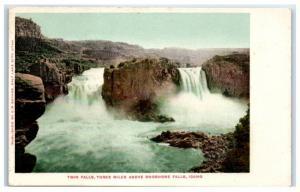 Early 1900s Twin Falls, 3 Miles Above Shoshone Falls, Idaho Postcard