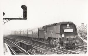 34013 Train At Raynes Park Station in 1965 Vintage Railway Photo