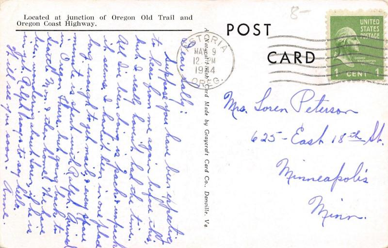 Astoria Oregon~Commercial Street~Liberty Theatre~News~Florsheim~1940s Cars~B&W