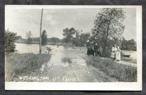 5093 - No ID 1910s Washington Street Flood. Photo Postcard