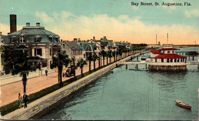 Florida St Augustine Bay Street 1913