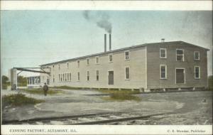 Altamont IL Canning Factory c1910 Postcard