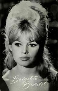 French Actress Brigitte Bardot (1960s) Takken No. AX 4714 RPPC