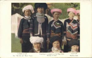 siam thailand, Native Thai Oi & Musö People from the North (1930s) Postcard (1)