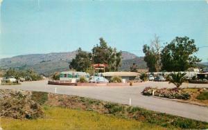 Autos Escondido California Ivy Del Trailer Park 1950s postcard Kaeser Blair 4123